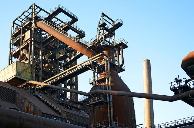 část továrny