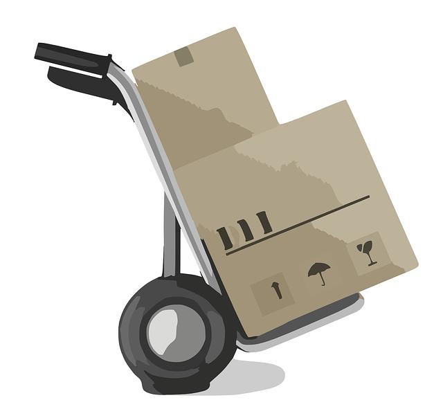 vozík na krabice